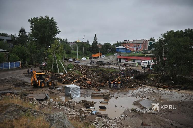 Последствия потопа в Нижних Сергах