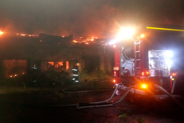 Пожар на объекте