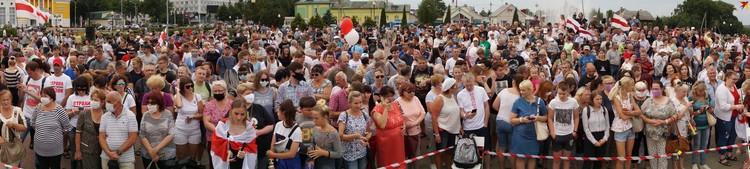 В Речице прошел массовый пикет Тихановской