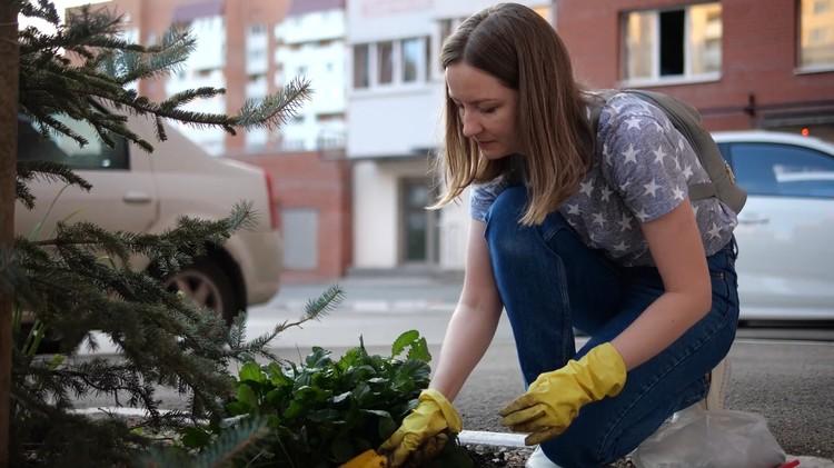 Молодежь старается сделать свой двор красивым