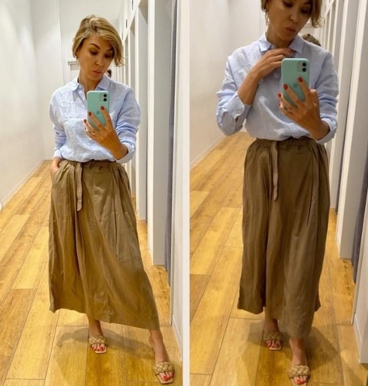 Летом стоит отдать предпочтение юбке с запахом или приталенному платью. Фото: instagram.com/stilistrostov/