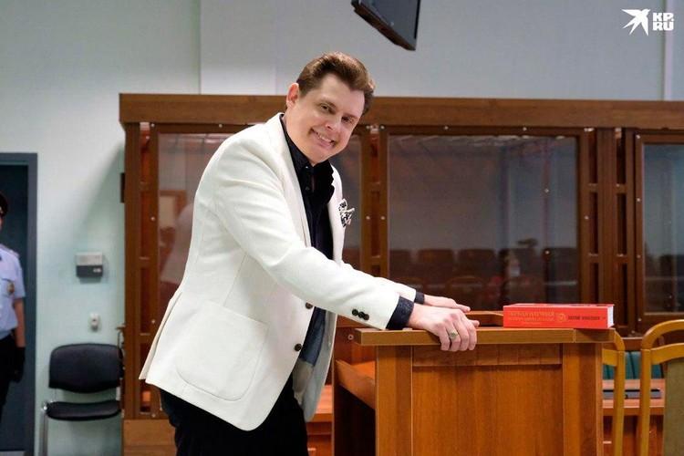 Евгений Понасенков явно рад был выступить в суде по делу Соколова
