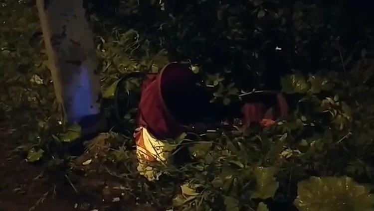 Четверо детей отвезли в больницу после аварии. Фото: кадр видео ГИБДД по городу Перми.