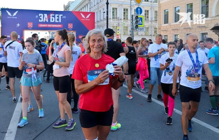 Берите пример: Нине Тарелкиной 72 года и это ее 141 забег!