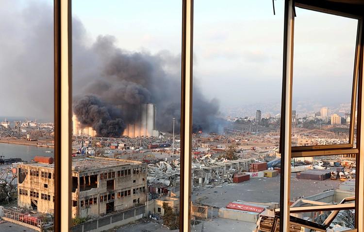 Половина города разрушена