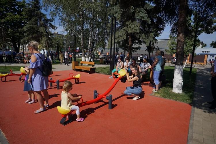 В Орле открылся обновленный сквер Ермолаева