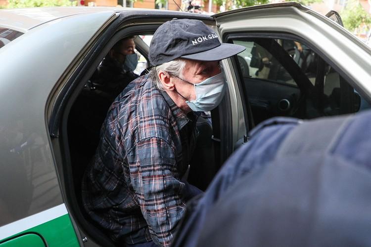 Сегодня в Пресненском суде проходит второй день слушаний по уголовному процессу Михаила Ефремова. Фото: Гавриил Григоров/ТАСС