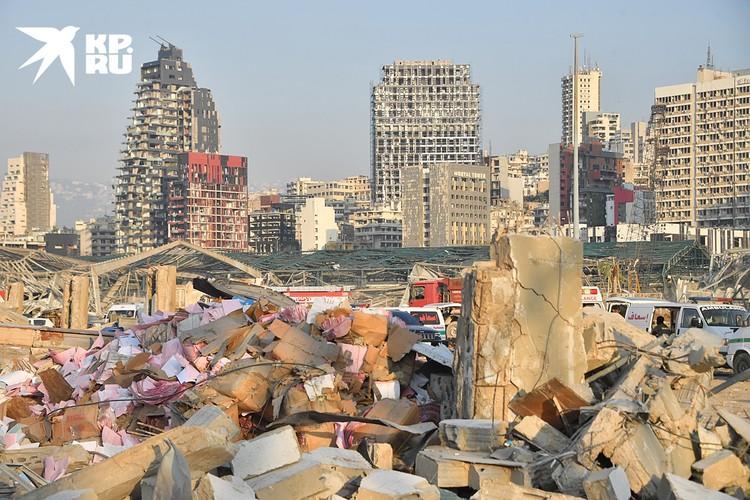 Центр города практически полностью разрушен