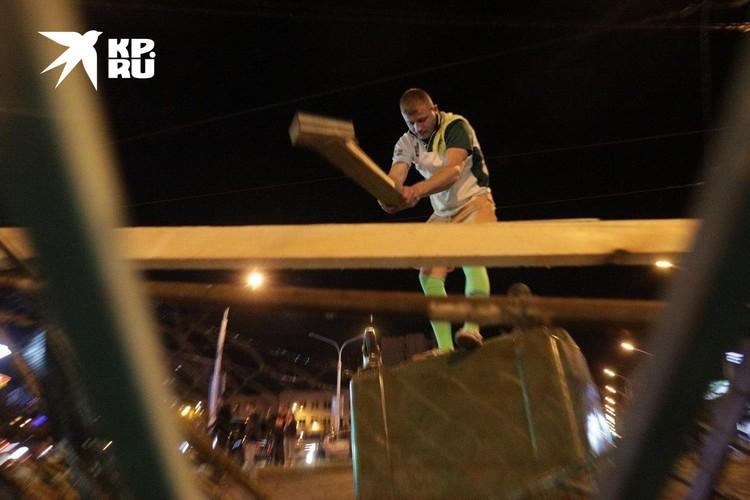 В Минске вторую ночь продолжаются беспорядки