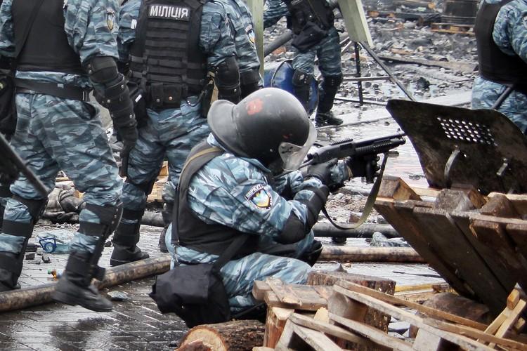 На Майдан в Киев «Беркут» собирали со всей Украины.