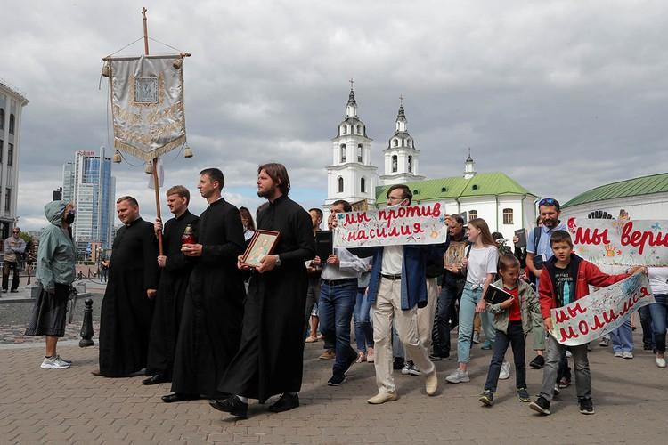 В Минске прошел крестный ход против насилия.