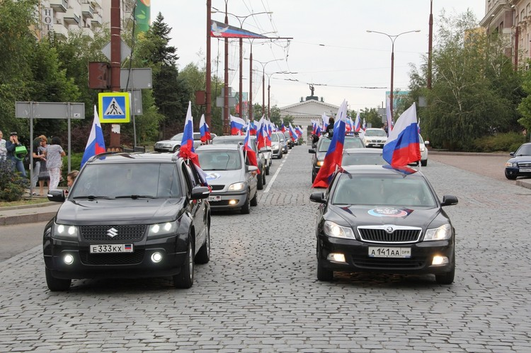 В Донецке прошел автопробег «Флаг моего государства»