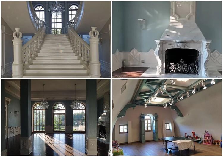 Дом бывшего проректора на Рублевке напоминает дворец. Фото: кадры оперативной съемки