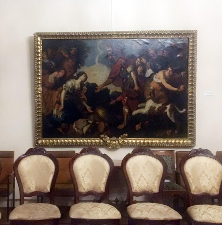 Жемчужина коллекции - работа ученика Рубенса «Давид и Авигея» - пошла пузырями от сырости