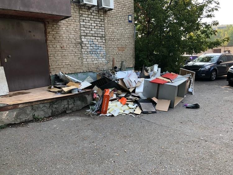 Многих не смущает отсутствие мусорных контейнеров в принципе, ведь все можно вывалить прямо по середине улицы. Фото: соцсети
