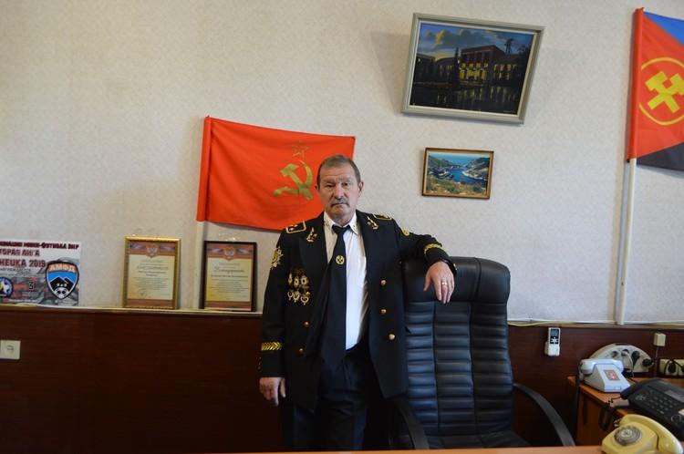 Председатель профсоюзного комитета шахты имени Засядько Виктор Катаргин
