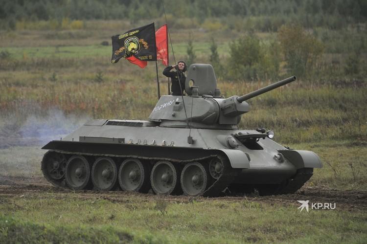 Легендарный советский танк Т-34.