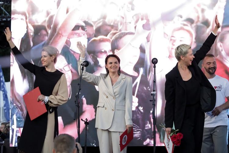 Главные белорусские оппозиционерки - Вероника Цепкало, Светлана Тихановская и Мария Колесникова