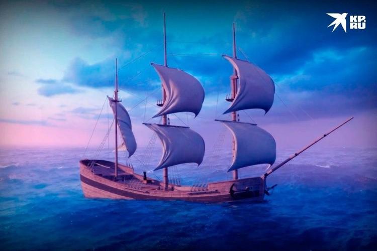"""Так мог выглядеть корабль """"Архангел Рафаил"""". Фото: ЦПИ РГО"""
