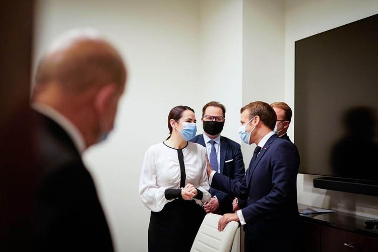 Встреча Тихановской и Макрона. Фото: пресс-служба Светланы Тихановской