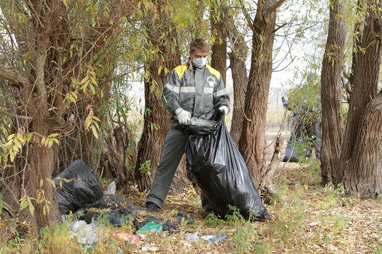 Сотрудники Самаранефтегаза собрали 35 мешков бытового мусора. Фото: НК «Роснефть»