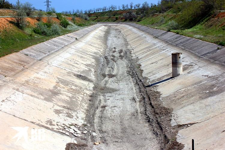 Пересохший Северо-Крымский канал