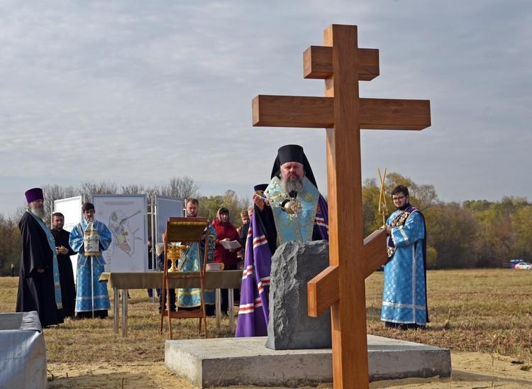 В селе Красниково заложили камень в основание Преображенской церкви