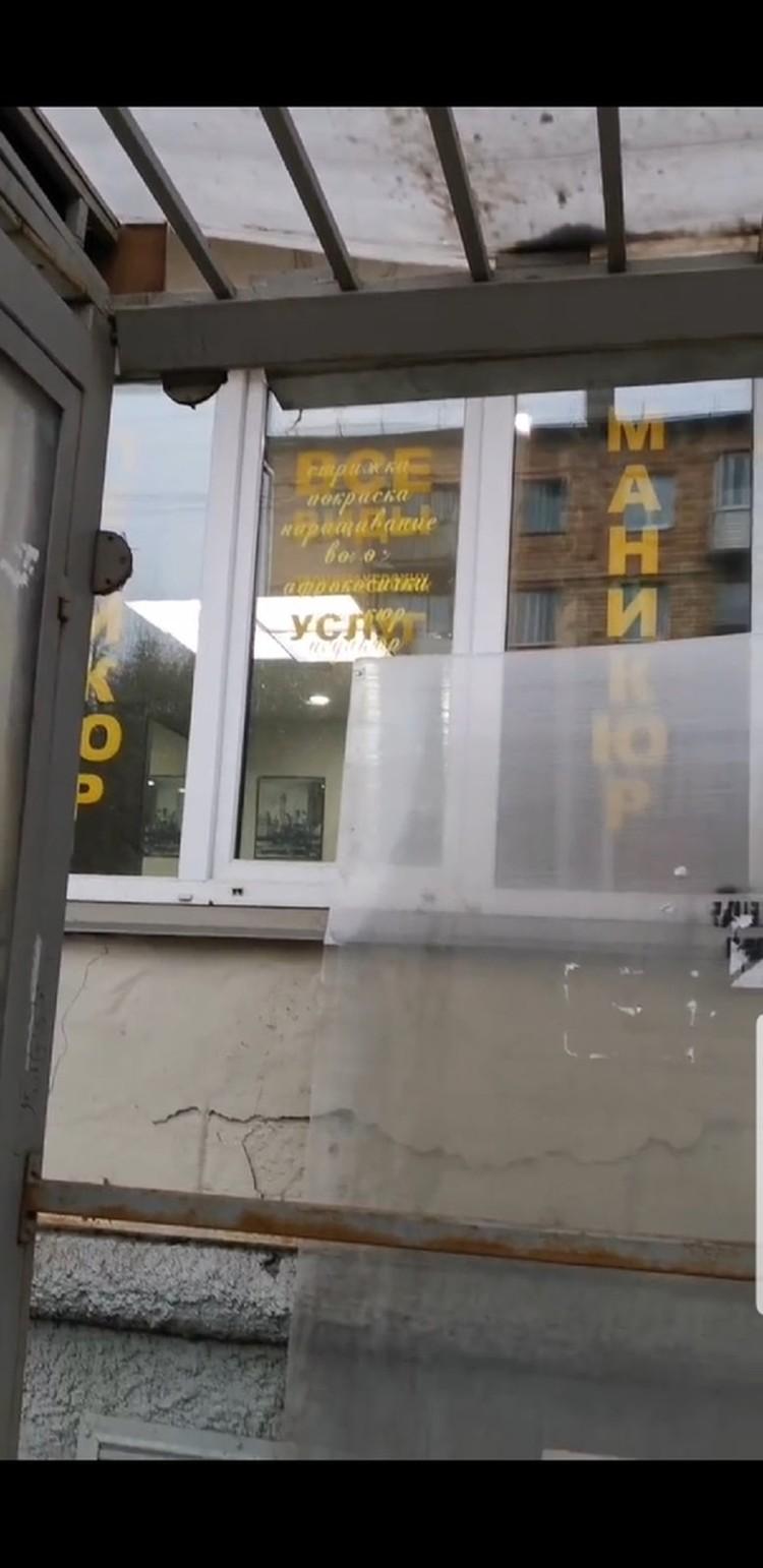 На Борисевича пострадала остановка. Фото: пресс-служба администрации города