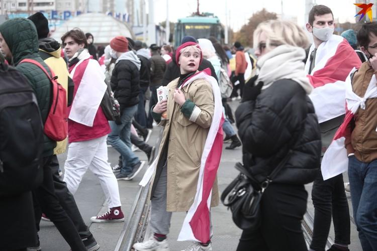 Колонна прошлась по Партизанскому проспекту и по спальным районам Минска.