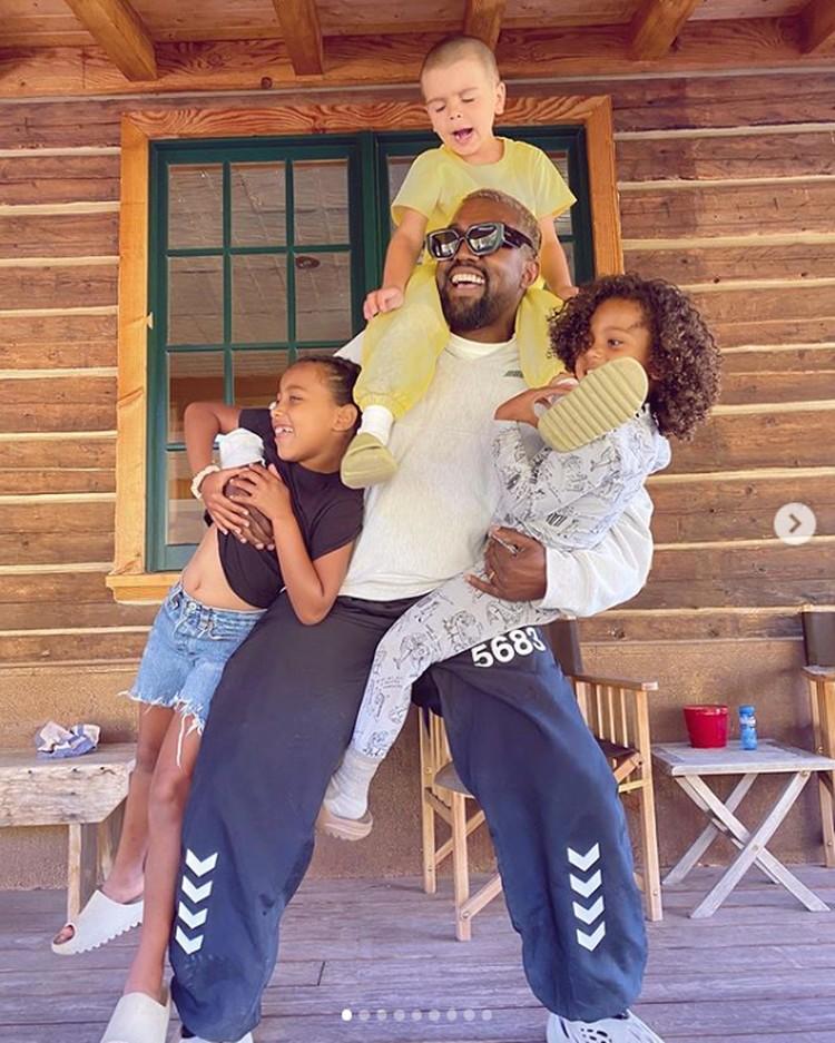 У Ким и Канье Уэста четверо детей. Фото: Инстаграм.
