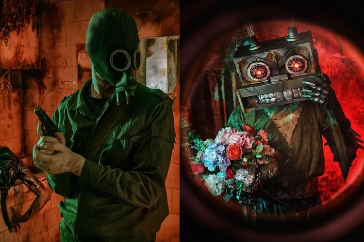 Сталкер и Заяц-Робот будут выглядеть оригинально на фоне пандемии. Фото: предоставлены Евгением Накрышским