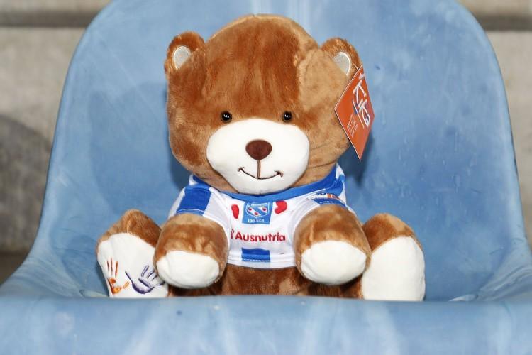 """Всех медведей одели в майки футбольного клуба """"Херенвен""""."""