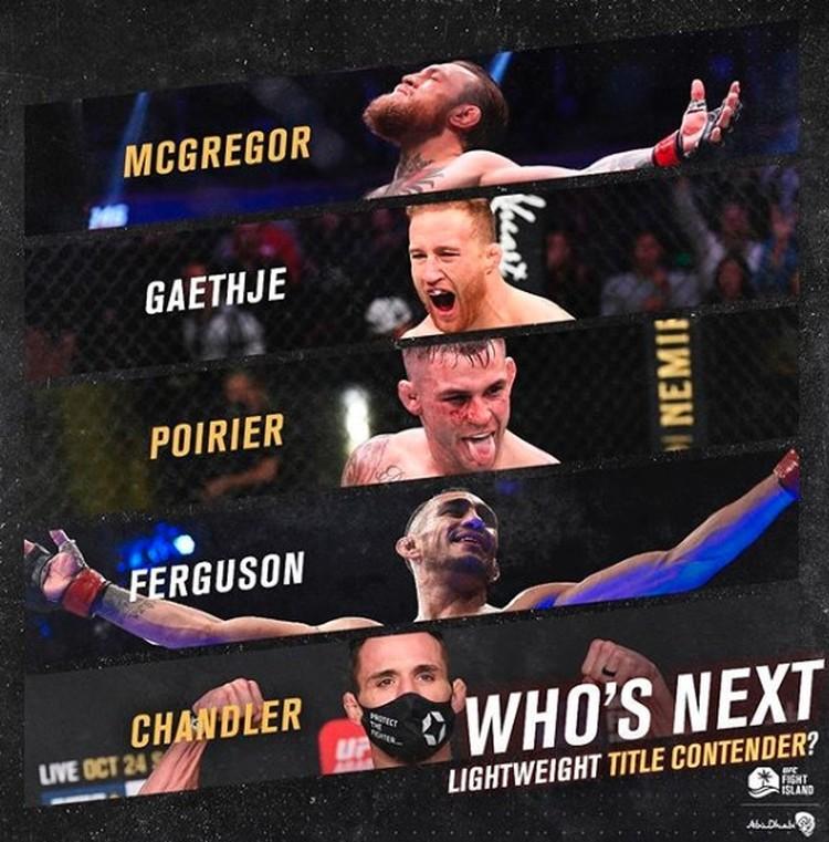 UFC уже начинает раскрутку нового боя - шоу должно продолжаться.