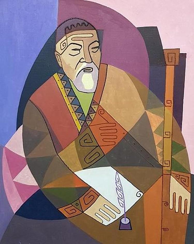 Работа художника творческого объединения «Жаңғыру», Музей искусств Восточно-Казахстанской области