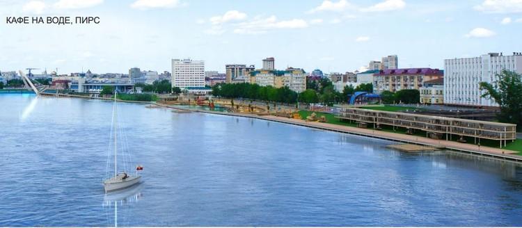 На пляже может появиться бассейн с речной водой и множество кафе. Фото: Омский центр городской среды