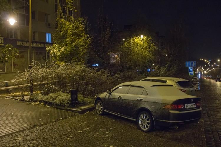 Первый снег в Донецке 2020