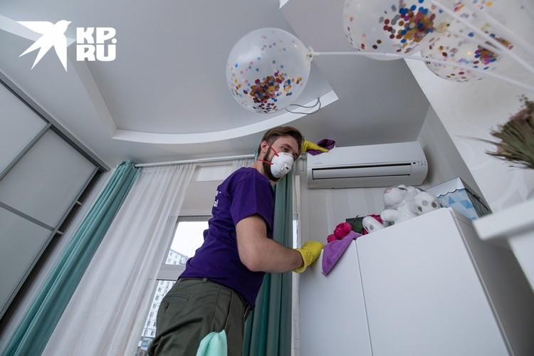 Задача клинера - добраться туда, куда ленятся клиенты во время обычной уборки.