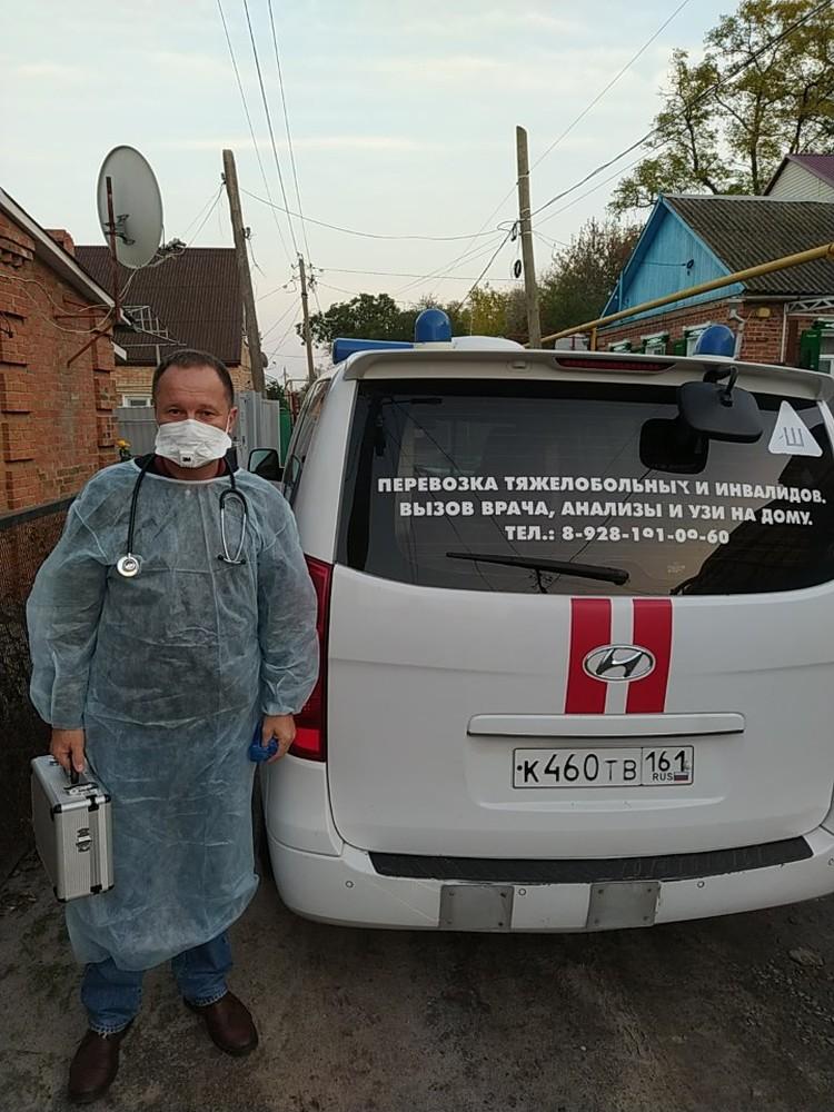 Игорь Симаков за день успевает посетить 18 пациентов. Фото: из архива героя публикции