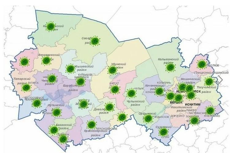 О ситуации в регионе расскажет карта распространения коронавируса.