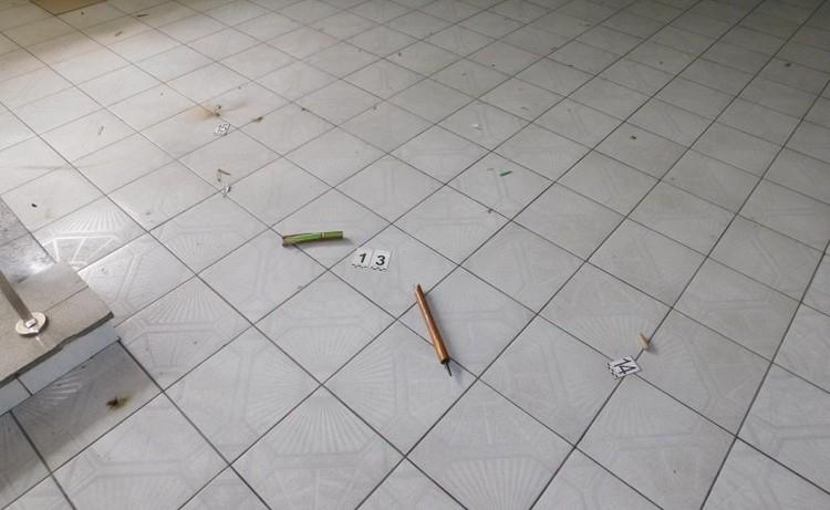 Тот самый фейерверк на полу в ГАИ. Фото: СК
