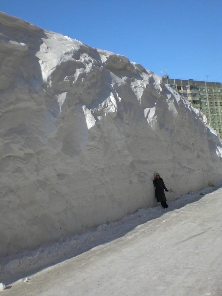 Вот так навалило снега Фото: Типичный Норильск