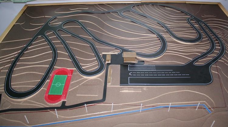 План лыжного стадиона на Карповом пруду.