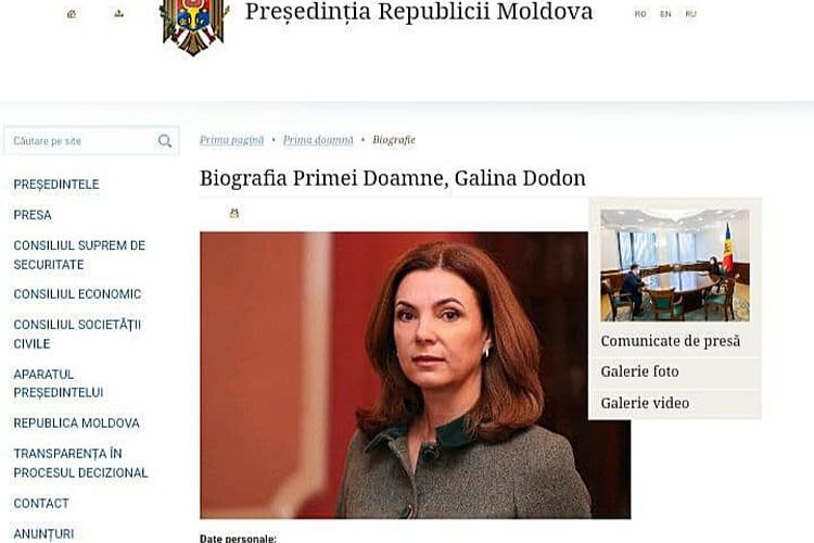 Галина Додон какое-то время числилась первой леди при президенте Санду.