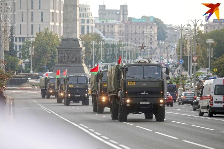 Автопробег по Минску в поддержку Лукашенко.