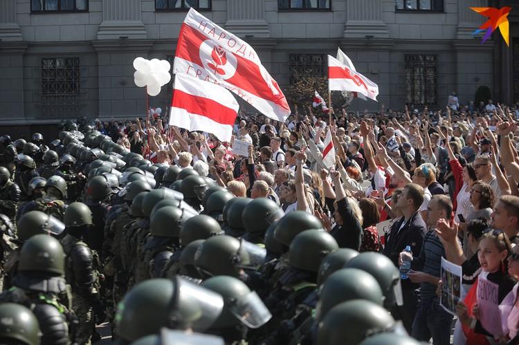 Марш Мира и Независимости. Минск. Проспект Независимости.