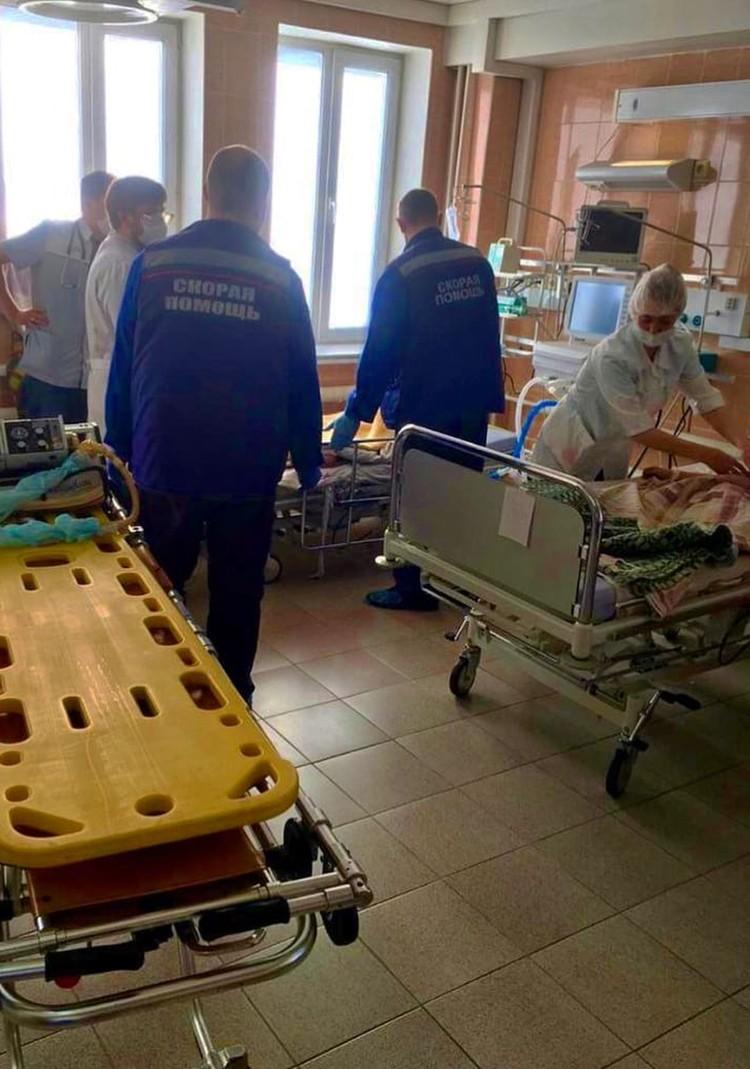 Пострадавших привезли в Новосибирскую областную больницу. Фото: минздрав НСО