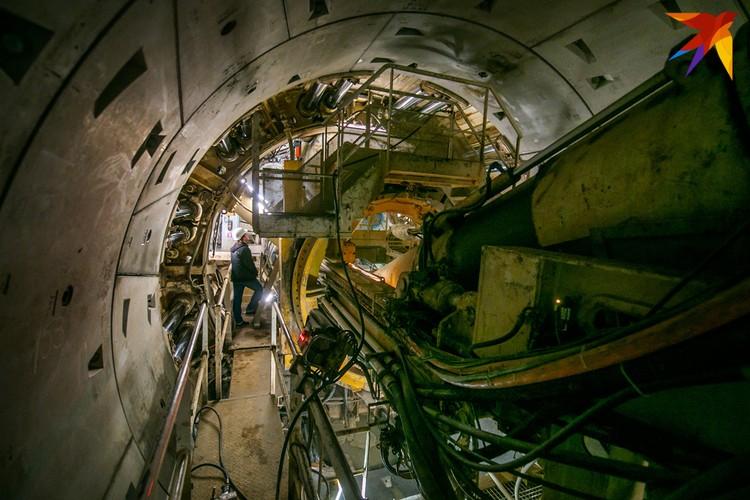 При строительстве третьей линии подземки использовали механизированный щит «Алеся».
