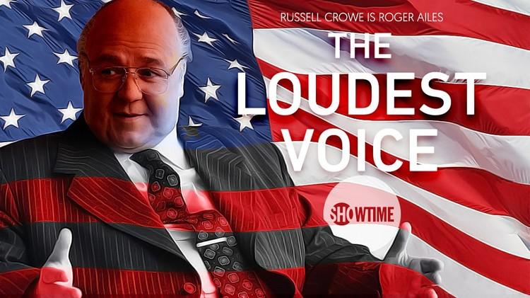 """Рассел Кроу на афише сериала """"Самый громкий голос""""."""