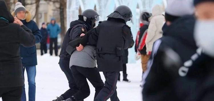 23 и 31 января на несанкционированных акциях в Удмуртии задержали 65 человек