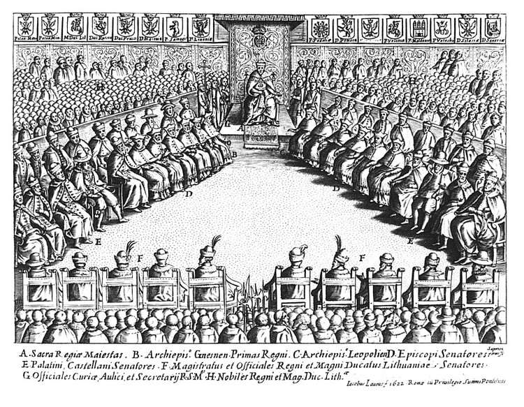 Сейм 1622 года на гравюре Джакомо Лауро. Фото: wikipedia.org